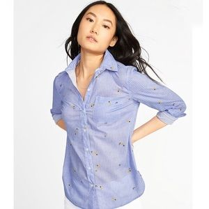 Old Navy Avocado and Pineapple Button Down Shirt